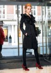 Black Satin Coat - Sonia Rykiel