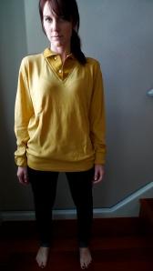 vtg 50s mustard yellow pullover